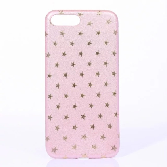 Accessories - NEW iPhone XR Pink and Gold Stars Case